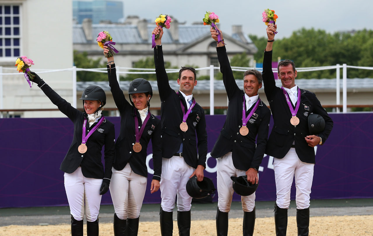 Bronze For Equestrian Team New Zealand Olympic Team