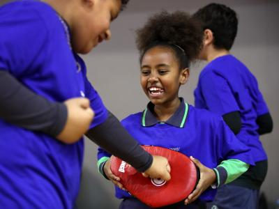 New Zealand kids have a go at Olympic Sports to celebrate International Olympic Day