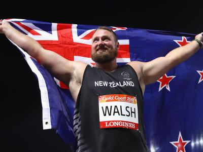 Walsh strikes gold in shot put
