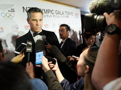 New Zealand Olympic Gala in Tokyo celebrates New Zealand's handing of baton from the Rugby World Cup to Tokyo 2020 Olympic Games