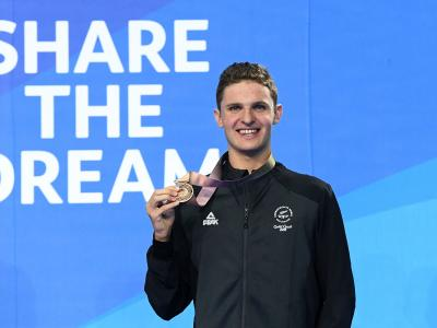 Lewis Clareburt back to hitting the books after bronze medal heroics