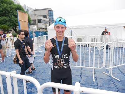 Hayden Wilde takes bronze at Tokyo 2020 Triathlon Test Event