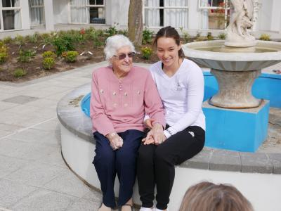 Special visit for Olympic Grandmother and Grandaughter ahead of Youth Olympic Games
