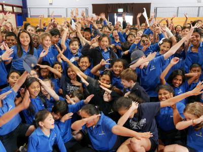 Olympian School visit with Siona Fernandes