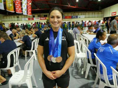 Megan Signal wins New Zealand's first medals at Pacific Games