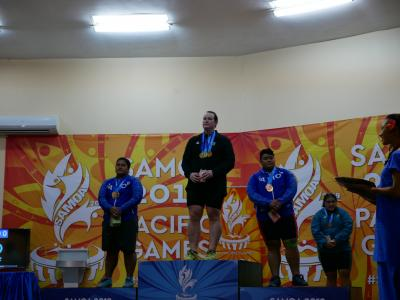 Two golds and a silver for Laurel Hubbard at Pacific Games + silver for David Liti