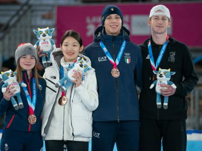 Bronze for speed skater + Luca Harrington named Closing Ceremony flagbearer on final day of Winter Youth Olympic Games