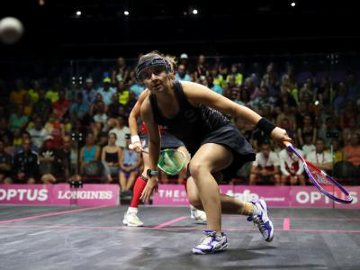Women's doubles still alive at the squash