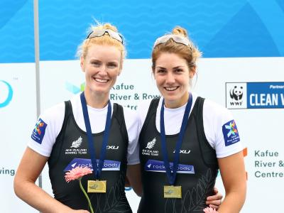 Three gold and a silver for New Zealand at Rowing World Cup