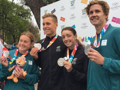 New Zealand and Australia combine for emphatic Triathlon silver medal